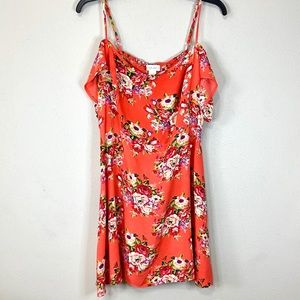 Band of Gypsies Cold Shoulder Short Floral Dress